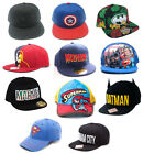 Marvel / DC Comics Baseball Snapback WideBill Cap New + Official Batman Superman