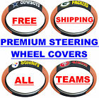 NEW NFL Premium Embroidered Steering Wheel Cover w/ GRIP for CARS FREE SHIPPING! $25.99 USD on eBay