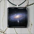 ANDROMEDA DEEP SPACE FAR GALAXY SQUARE PENDANTS NECKLACE MEDIUM OR LARGE -gyu7Z