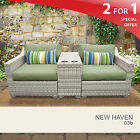 New Haven 3 Piece Outdoor Wicker Patio Furniture Set 03b 2 for 1