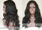 Silk Top Full Lace Human Hair Wigs Wave Indian Remy Lace Front Silk Base Wigs