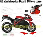 Sticker kit for Ducati 848 1098 1198 Decals for fairings look 848 evo corse