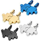 1pair Silver/Gold/Black Fashion  Mens Charm Stainless Steel Cool Puzzle Pendant