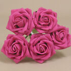 """30 x 1.6"""" 4cm Dia Open Roses Hot Pink Colourfast Foam Artificial Wedding Flowers"""