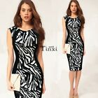 Women Sexy Sleeveless Bandage Bodycon Evening Party Cocktail Pencil Dress TXWD