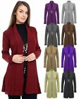 Ladies Womens Knitted Boyfriend Cardigan Brooched Waterfall Sumer Dress Jumper