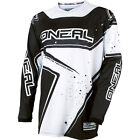 O'Neal Element Black White Motocross Dirtbike Mountain Bike MTB Riding Jersey