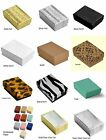 Cotton Filled Jewelry Gift Box Jewelry Packaging Craft Collectible Parts Boxes