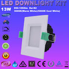 1/6X 13W SQUARE LED DOWNLIGHT KIT DIMMABLE WARM & COOL WHITE 90MM CUTOUT IP44
