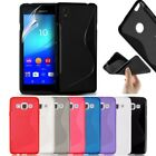 S-Line Soft Silicon Gel Case For Sony Xperia M5 + Free Screen Guard
