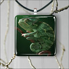 CHAMELEON GREEN PENDANTS NECKLACE M - L - XL -g8x