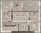 SCREWLESS, SATIN NICKEL LED OR STANDARD DIMMER. LIGHT SWITCH. SOCKET OUTLET