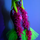 UV/Neon Feather Boa - Fancy Dress, Party, Club Wear, Accessories