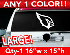 "ARIZONA CARDINALS HEAD ONLY LOGO DECAL STICKER 16""w x 15""h ANY 1 COLOR $17.99 USD on eBay"