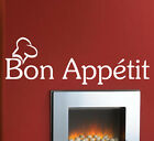 BON APPETIT vinyl wall quote decal  KITCHEN WALL QUOTE STICKER  Wall Sticker N73