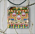 PIN BALL MACHINE PENDANTS NECKLACE OR EARRINGS -f3vt