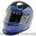 Pyrotect Pro Airflow Duckbill Auto Racing Helmet SA2015 - Blue Rebel Graphic