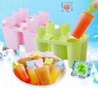 DIY 6 Pcs Ice Cream Pop Popsicle Juice Mold Maker Tray Frozen Dessert Kids Party
