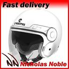 CABERG UPTOWN Gloss White OPEN FACE JET SUNVISORED MOTORCYCLE SCOOTER HELMET