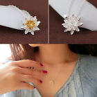 New 925 Silver Plated Ladies Elegant Flower Short Necklace For Women Jewelry