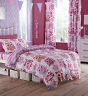 Catherine Lansfield Owls Duvet Cover Curtains Girls kids Pink Purple woodland