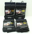 NEW 12 x Pairs Mens Octave UK Designed Boxer Shorts Black Navy & Grey - Free P&P