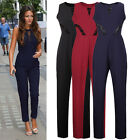 Sexy Ladies Stylish Sleeveless Summer Party Cocktail Jumpsuit Long Pants Dresses