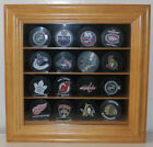 16 Baseball /  Hockey Puck Display Case Shadow Box, w/ Door Shadow Box : B16