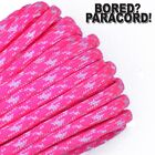 Neon Pink and White Camo - 550 Paracord Rope 7 strand Cord 10 25 50 100 ft