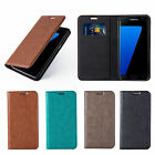 Samsung Galaxy S7 Case Luxury Brown Leather wallet Flip Cover Ultra Slim