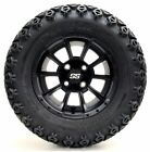 "12"" CLUTCH Matte Black Wheels and X-Trail Tires + GTW Quality Golf Cart Lift Kit"