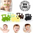 Upscale Baby Teething Toy Silicone Train Bead Teether Pacifier Soother BPA-Free