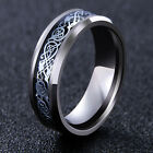 Fashion Men's Silver Celtic Dragon Titanium Stainless Steel Wedding Band Ring