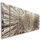 "Modern Silver Metal Wall Art Sculpture ""Eye Of The Storm"" By Jon Allen"
