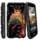 For LG K3  Rugged Holster Clip Stand Case Speedometer Flames