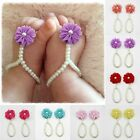Внешний вид - Newborn Infant Kids Baby Girl Sole Crib Barefoot Ring Sandals Flower Pearl Shoes