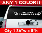 "ARIZONA CARDINALS REAR BANNER  DECAL STICKER 36""w x 4""h ANY 1 COLOR $14.99 USD on eBay"