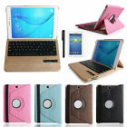 "360 Bluetooth Keyboard Leather Case Cover For Samsung Galaxy Tab A 10.1"" T580"