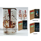 For Huawei Mate 9 8 G8 P9 P8 Lite Spill Coffee Print Flip Wallet Phone Case
