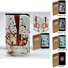 For iPhone 7 Plus SE 5 5s 6 6s Plus - Spill Coffee Print Flip Wallet Phone Case