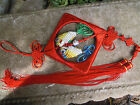 Red Chinese lucky Knot. Feng Shui Lucky Charm, Wall large