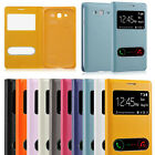 PU Leather Window View Protective Case Cover for Samsung Galaxy Grand DUOS i9082