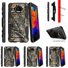 For Motorola Moto Z Force Driod Holster Clip Stand Case Tree Bark Hunter Camo