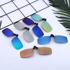 Mens Retro Polarized Clip-on Flip-up Sunglasses Driving Fishing Outdoor Sports