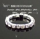 New Silver Plated Princess Queen Ring Rhinestone Diamond Ring Elastic 1pc/