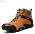 Fashion Men's Outdoor Hiking Safety Shoes Suede Leather Sneakers Boots