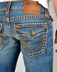 True Religion Men's $389 Ricky Straight Super T Jeans - M859NV06 Size 36x34