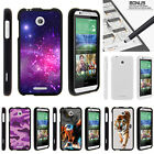 For HTC Desire 510 Case Hard Snap On 2 Piece Slim Shell Galaxy Stars