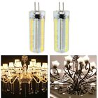 G8 152 LED Dimmable 3014 SMD White/warm White Corn Bulb Light Silicone Lamp