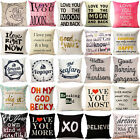 """18""""Character Love Pop Pillow Cases Cotton Linen Sofa Cushion Covers Pillow Cover"""
